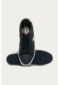Niebieskie sneakersy U.S. Polo Assn na średnim obcasie, na obcasie