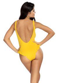 Żółty strój kąpielowy Lorin gładki