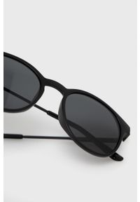 Answear Lab - Okulary przeciwsłoneczne. Kształt: okrągłe. Kolor: czarny