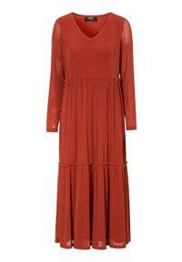 Długa sukienka Zoey z dekoltem w serek, wizytowa