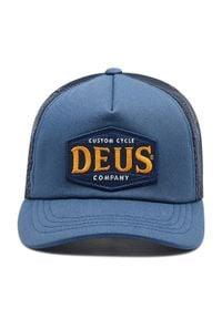 Deus Ex Machina - Czapka z daszkiem DEUS EX MACHINA - American Twin Trucker DMA207534 Petrol Blue. Kolor: niebieski. Materiał: bawełna, poliester, materiał