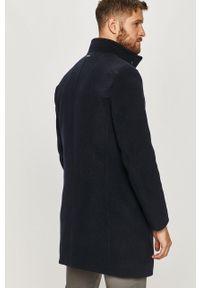 Niebieski płaszcz TOMMY HILFIGER casualowy, na co dzień, bez kaptura