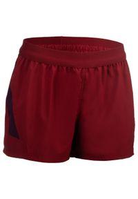 OFFLOAD - Spodenki do rugby R500 damskie. Kolor: fioletowy, czerwony, wielokolorowy. Materiał: elastan, poliester, materiał. Sport: fitness