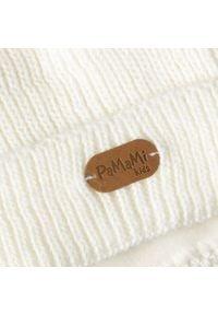 Zimowa czapka dziewczęca PaMaMi - Ecru. Materiał: poliamid, akryl. Sezon: zima