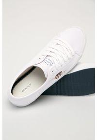 GANT - Gant - Tenisówki Pillox. Nosek buta: okrągły. Zapięcie: sznurówki. Kolor: biały. Materiał: guma