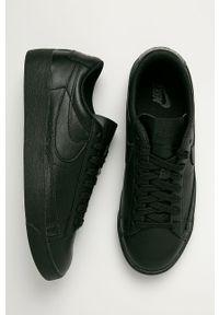 Czarne buty sportowe Nike Sportswear z cholewką, na średnim obcasie, na obcasie, na sznurówki