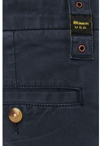 Niebieskie spodnie Blauer na co dzień, gładkie