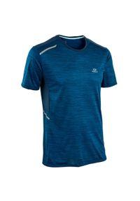 KALENJI - Koszulka do biegania męska Kalenji Run Dry+. Kolor: wielokolorowy, szary, niebieski. Materiał: poliester, elastan, materiał. Sport: bieganie