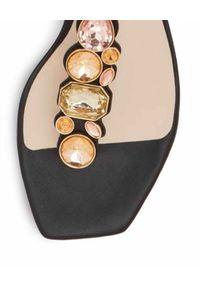 SOPHIA WEBSTER - Sandały ze zdobieniami Ritzy. Kolor: czarny. Wzór: aplikacja. Obcas: na obcasie. Wysokość obcasa: niski
