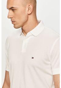 Biała koszulka polo TOMMY HILFIGER polo, krótka