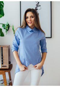 Niebieska bluzka Fanaberia.com na spotkanie biznesowe, biznesowa