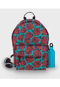 MegaKoszulki - Plecak fullprint Róże. Kolor: różowy. Materiał: materiał. Wzór: nadruk