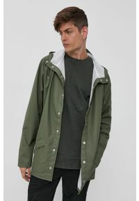Rains - Kurtka przeciwdeszczowa 1203 Jacket. Typ kołnierza: kaptur. Kolor: zielony