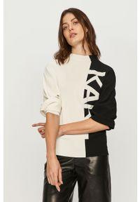Czarny sweter Karl Lagerfeld z długim rękawem, klasyczny, na co dzień