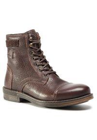 Brązowe buty zimowe Sergio Bardi klasyczne, na co dzień, z cholewką