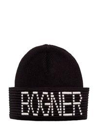 Czarna czapka Bogner z nadrukiem, sportowa