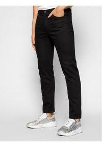 Lee Jeansy Slim Fit Rider L701YC47 Czarny Slim Fit. Kolor: czarny. Materiał: jeans