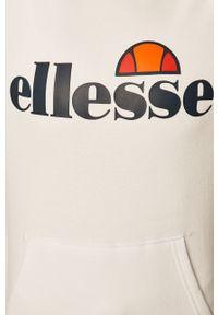 Biała bluza Ellesse długa, z kapturem, na co dzień, z długim rękawem