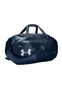 Niebieska torba sportowa Under Armour w kolorowe wzory