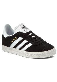 Adidas - Buty adidas - Gazelle C BB2507 Cblack/Ftwwht/Goldmt. Zapięcie: pasek, sznurówki. Kolor: czarny. Materiał: skóra ekologiczna, skóra, zamsz. Szerokość cholewki: normalna. Wzór: paski. Sezon: lato