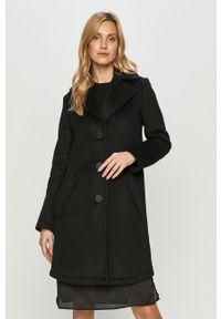 Czarny płaszcz Armani Exchange na co dzień, bez kaptura