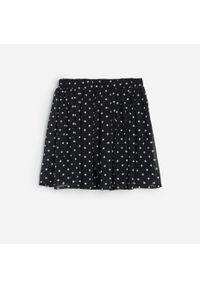 Czarna spódniczka Reserved w kropki