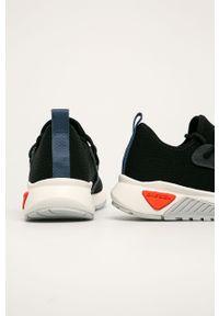 Czarne sneakersy Diesel z okrągłym noskiem, na sznurówki, z cholewką