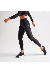 DOMYOS - Legginsy fitness damskie Domyos 900. Stan: podwyższony. Materiał: skóra, materiał. Sport: fitness