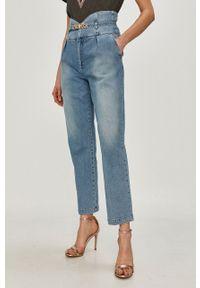 Niebieskie jeansy loose fit Pinko klasyczne