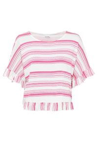 Różowa bluzka bonprix w paski