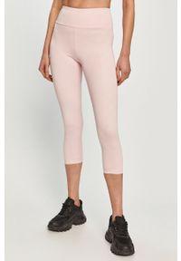 Różowe legginsy Guess gładkie