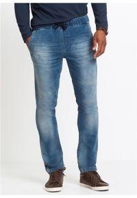 Dżinsy dresowe Slim Fit Straight bonprix niebieski denim. Kolor: niebieski