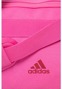 Różowa torba podróżna adidas Performance z nadrukiem