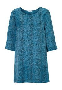 Truly mine Tunika Monique niebieski w cętki female niebieski/ze wzorem S (34/36). Okazja: na co dzień. Kolor: niebieski. Materiał: wiskoza. Wzór: motyw zwierzęcy. Styl: elegancki, casual