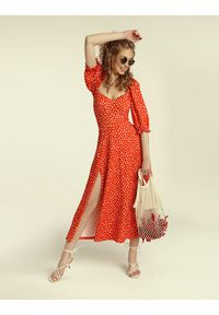 Madnezz - Sukienka Cubana - carnaval print. Materiał: wiskoza, elastan. Wzór: nadruk