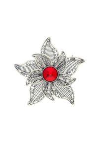 Polcarat Design - Broszka z kryształem Swarovski Kwiat B 170. Materiał: srebrne. Wzór: kwiaty. Kamień szlachetny: kryształ