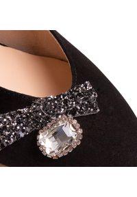 Czarne sandały Hego's Milano z aplikacjami