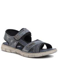 Niebieskie sandały Rieker na co dzień, casualowe