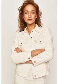 Biała kurtka Levi's® biznesowa, na spotkanie biznesowe, w kolorowe wzory