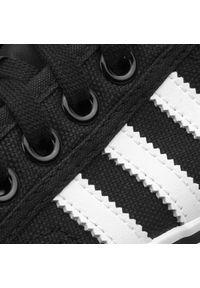 Czarne trampki Adidas z cholewką, eleganckie, z paskami, w paski