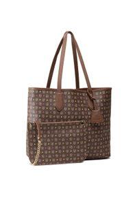 Brązowa torebka klasyczna Pollini skórzana, klasyczna
