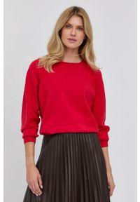 Liviana Conti - Sweter. Kolor: czerwony. Materiał: dzianina. Długość rękawa: raglanowy rękaw