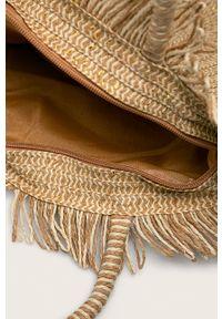 Złota torba plażowa ANSWEAR na ramię