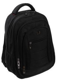 DAVID JONES - Plecak sportowy czarny David Jones PC-05 BLACK. Kolor: czarny. Materiał: materiał. Styl: sportowy