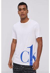 Calvin Klein Underwear - T-shirt piżamowy. Kolor: biały. Wzór: nadruk
