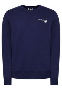 New Balance Bluza CCF Crew MT03911 Granatowy Regular Fit. Kolor: niebieski