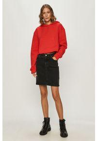 Czerwona bluza TALLY WEIJL z kapturem, casualowa, na co dzień