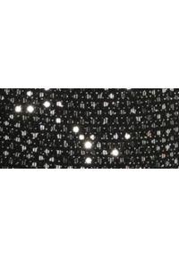Czarna spódnica TOP SECRET z podwyższonym stanem, na zimę, elegancka, w kolorowe wzory