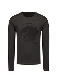 Aeronautica Militare - T-shirt z długim rękawem AERONAUTICA MILITARE. Materiał: bawełna, tkanina. Długość rękawa: długi rękaw. Długość: długie. Wzór: motyw zwierzęcy, nadruk