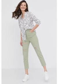 Zielone proste jeansy Answear Lab gładkie, wakacyjne